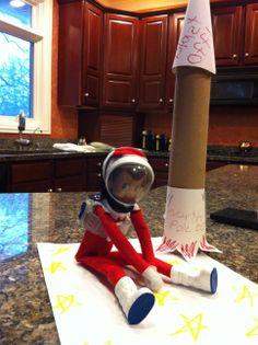 Unique Elf on the Shelf Ideas - Astronaut Elf