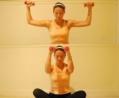 Low weight arm exercises. Use 5-8lb weights, do 20x reps and increase at your own weight.