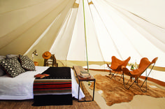 Glamping! This is the only way I would do camping!