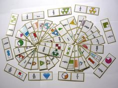 Fraction Dominoes in color - Fractominoes! 54 cards! $ #fractions