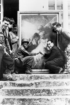 "Nazi Plunder discovered in 1945: A Goya painting called ""Time"" being returned to the Lourve in France."