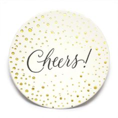 "Letterpress ""Cheers!"" coasters by Sugar Paper. Perfect hostess gift!"