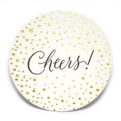 Cheers letterpress coasters