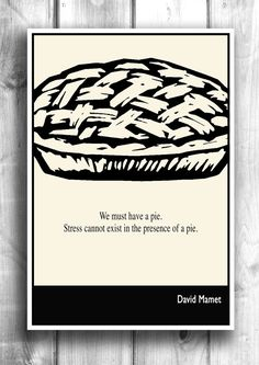 Kitchen Print - Typographic Print Literary Art Illustration by Lit101