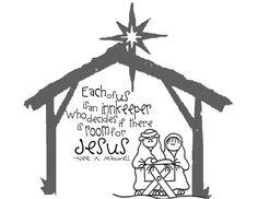 The Sew*er, The Caker, The CopyCat Maker: Nativity Handout