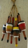 Small Fishing Bobber Buoys Set - maybe could sand them down and use for guys' boutonnieres?