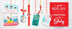 Christmas in July sale through July 25th, 2014. Code JULYHOLIDAYZ for 60% off cards, invitations, stickers, posters. 50% off ornaments, pillows, bath sets, lamps. 40% off mugs, aprons, paper napkins. 30% off T-shirts, jewelry, mobile device cases, hats, watches, and 15% off tons of other items!