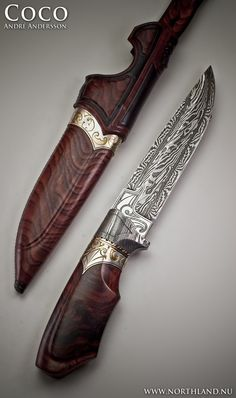 Coco by Andre Andersson Custom Damascus Knives - Knives, Daggers, Swords and Artknives from Sweden