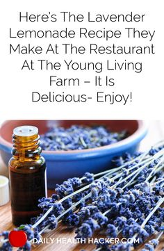 Here's the Lavender Lemonade recipe they make at the restaurant at the Young Living Farm – It is delicious- Enjoy!