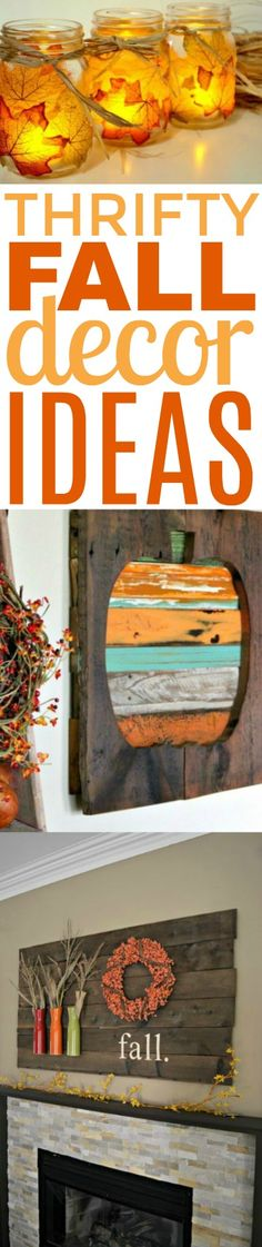Fall is almost here and I know you've seen the DIY thrifty fall  decor ideas already starting to pop up. Let's inspire you today with some Great  Fall Decor Ideas that will be a fun addition to your decor for the  season. #diy #crafts  #teencrafts #projects #diycrafts #diyprojects #fundiys #funprojects #diyideas  #craftprojects #diyprojectidea #teencraftidea #falldecor #fallcrafts  #diyfallideas #fall #autumn
