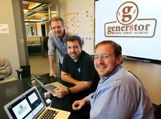 gener8tor doing GREAT things! Photo: gener8tor principals Dan Armbrust (from left), Troy Vosseller and Joe Kirgues work at the accelerator's Milwaukee office.
