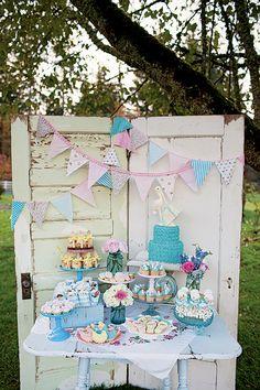 vintage baby shower, baby shower ideas, baby bird shower, baby shower desserts table, baby shower cake table, baby shower themes, bird shower dessert, baby shower dessert tables, babi shower