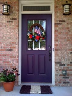 I like this door. Not much on the purple, I'd get a different color! Like red!