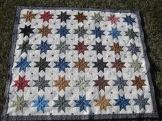 Threads on the floor: Star Quilt finished and gifted