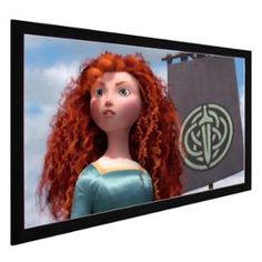 """New 100"""" HD 16:9 Projector Fixed Frame Projection Screen 3"""" Aluminum 87x49 White"""