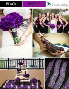 black and purple wedding ideas