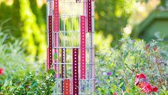 wire trelli, garden trellis, yard art, trelli tower, garden spaces