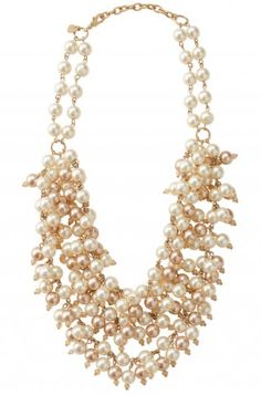 Sofia Pearl Bib Necklace. $118
