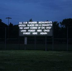 Echoes Of Voices In High Towers - British artist Robert Montgomery lights up Berlin with his haunting statement pieces