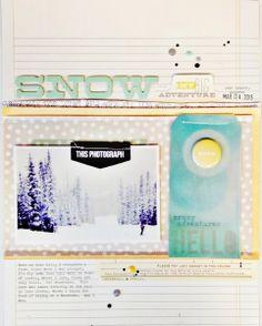 #papercraft #scrapbook #layout    Snow by TaraElias at @Studio_Calico