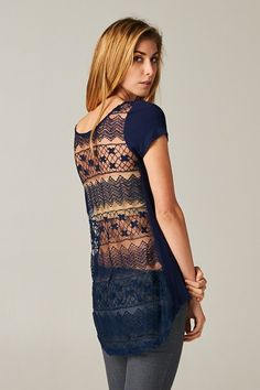 Lace Averly Tee