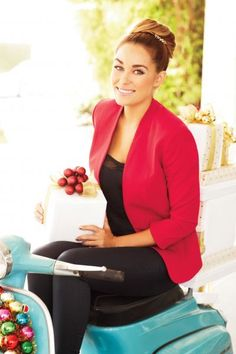 red blazer for the holidays {lc lauren conrad collection}