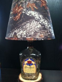 Liquor Bottle Lamp Crown Royal Handle by RustyArmadillo on Etsy