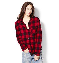 Plaid Boyfriend Shirt. #hotforholiday