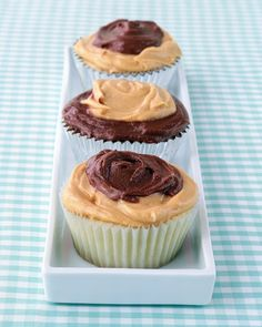 Peanut-Butter and Chocolate Frosted Cupcakes - Martha Stewart Recipes