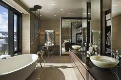 bathroom design, interior design, ski resorts, design homes, dream bathrooms, tub, ski house, master bathrooms, home decorations