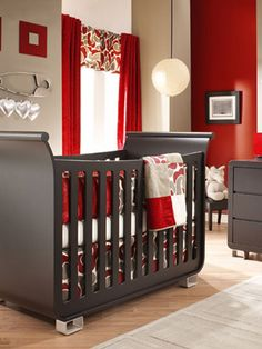 Baby Girl Nurseries - #4  I like this but with dark purple instead of the red