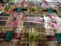 cloth weaving and kantha stitching...