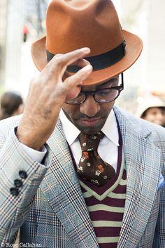 hats, men styles, pattern mixing, men hat, color coordination, tie, men fashion, man, style fashion