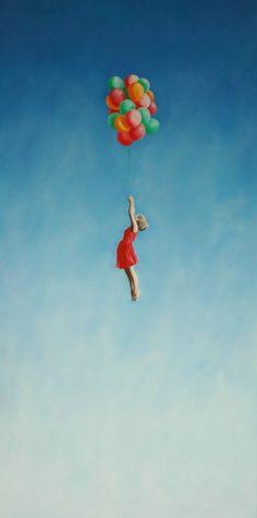 "Saatchi Online Artist: Andrei Engelman; Oil, Painting ""Up, Up"""