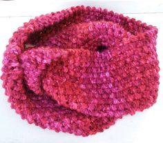 Knit Red Pink Cowl Mobius Infinity Scarf for Mothers Day by stinkR, $23.00