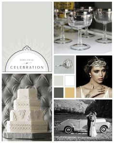Art Deco Wedding Inspiration Board by papersnaps.com