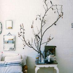 mirrors, interior, bedroom decor, white, trees