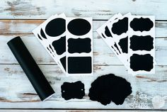 Put a Label On It - Chalkboard Placemats, Sheets, Stickers and Tags #chalkboard pickyourplum.com