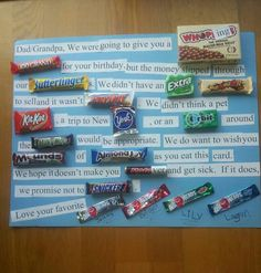Birthday candy bar poem