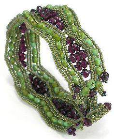 green bracelet, filigre bracelet