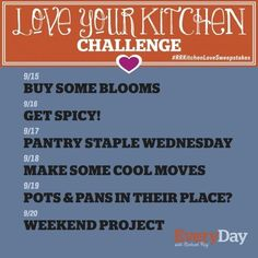 It's Week 2 of the Love Your Kitchen Challenge! — The Love Your Kitchen Challenge   The Kitchn