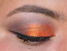 """And our Thai Silk and Vesuvius! """"An orange wall of glitter with MAC Moth Brown"""""""