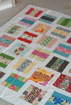 Love this scrap quilt!