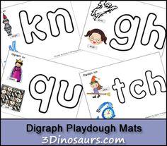 Free Digraph Playdough Mats - 3Dinosaurs.com