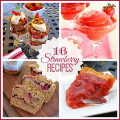 16 Strawberry Recipes for National Strawberry Day or your next Strawberry Festival!! via @musingsofahousewife.com #strawberries #recipes