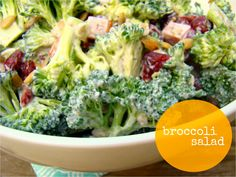 Broccoli salad with lemon dill dressing(with ham, sunflower seeds, and dried cranberries)