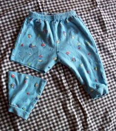Boy shorts out of baby pants.