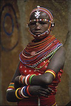 Africa | Masai adornment. Kenya. | ©Steven Ford