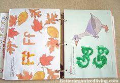 pinterest home preschool organization | How To Organize Preschool Papers binder letters – BETTER ORGANIZED ...
