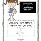 Lesson 2 Properties of Exponential Functions Foldable, SmartBoard Lesson and answer key